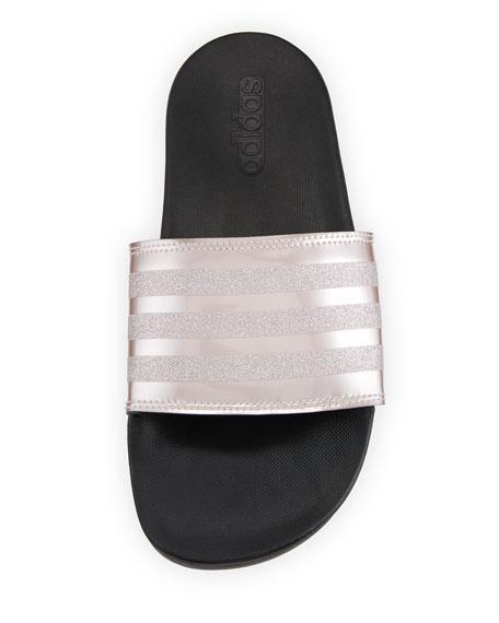 Adilette Glitter Comfort Slide Sandal
