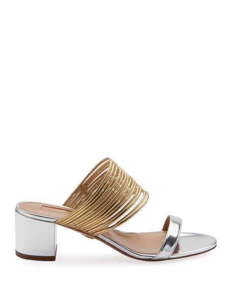 Rendez Vou Metallic Slide Sandal