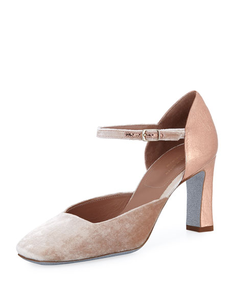 Dries Van Noten Mixed Media Square-Toe Pump