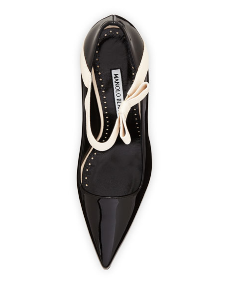 Immaculada Patent Mary Jane Pumps, Black