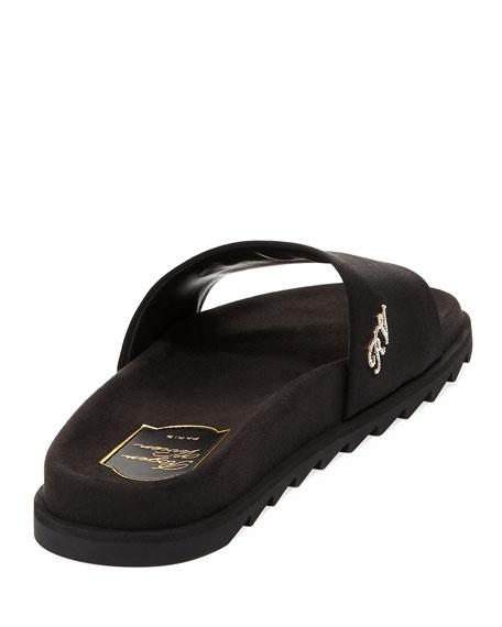 Slidy Viv Strass Pool Slide Sandal