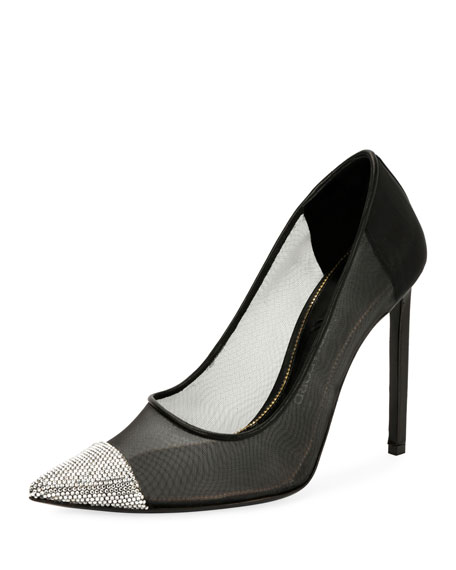 Strass-Cap Illusion 105mm Pumps