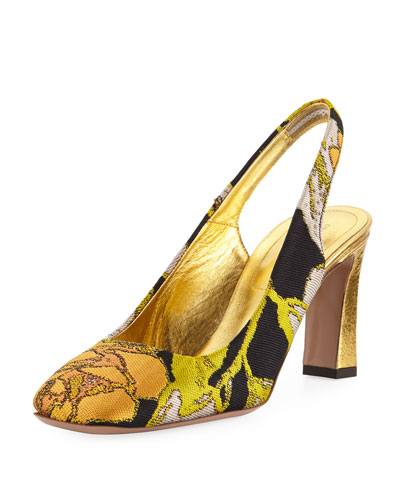 Brocade Slingback Pump