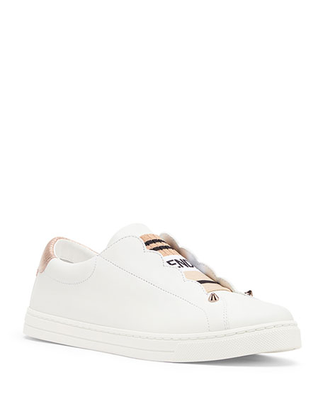 Fendi Rockoko Leather Slip-On Sneaker