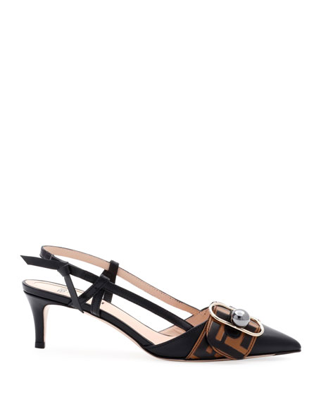 Pearland Leather Slingback Pumps
