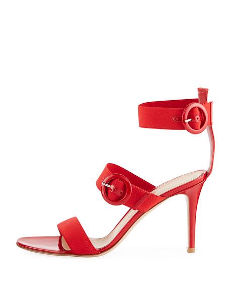 Elastic Multi-Strap High Sandal