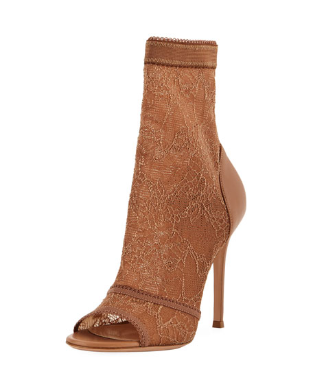 Stretch-Lace High Bootie