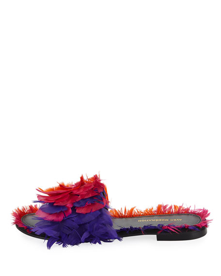 Bora Bora Feather Slipper Sandal