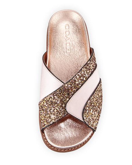 Glitter Flat Pool Slide Sandal