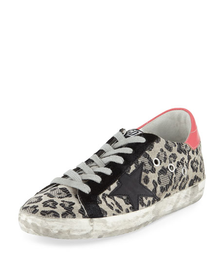 Golden Goose Superstar Metallic Leopard Low-Top Sneaker