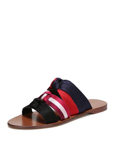 Bree Knotted Flat Slide Sandal