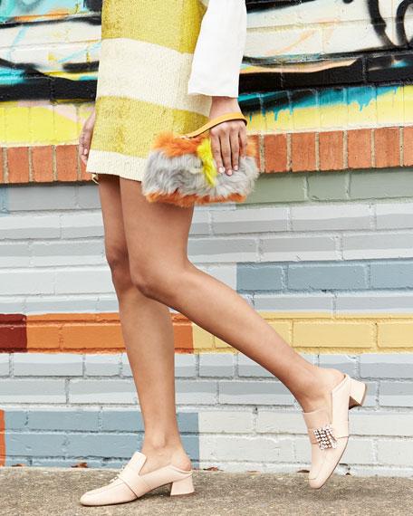 Irises Embellished Block-Heel Loafer