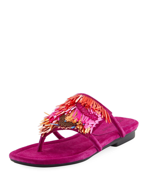 478feda7139 Donald J Pliner Kya Embellished Fringe Sandal