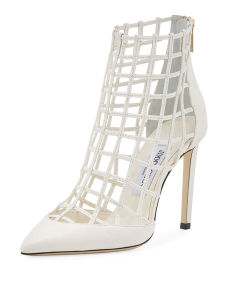 Jimmy choo Sheldon Leather Cage Heels W00xh7bVeE