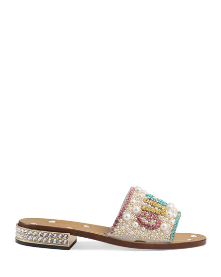 Guccy Jeweled Sandals