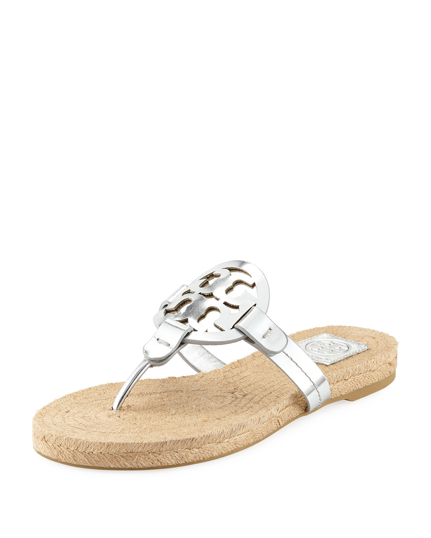 a9097dc1d683 Tory Burch Miller Logo Espadrille Flat Thong Sandal