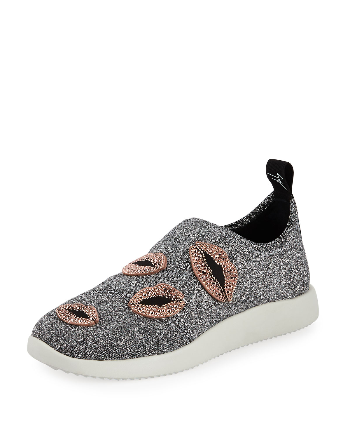 Giuseppe Zanotti Glitter Stretch Trainer Lips Sneakers with Lips Trainer dc4a2f