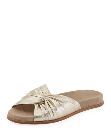 Metallic Twisted Slide Sandal