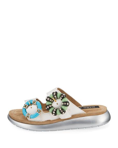 Sage Embellished Slide Sandal