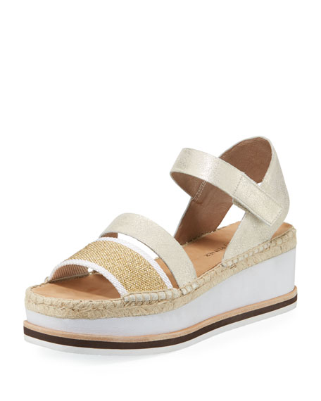 Anie Metallic Espadrille Sandals