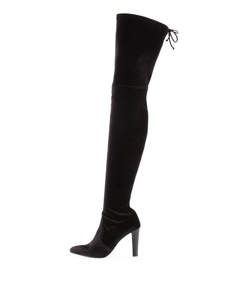 Alllegs Ultrastretch Velvet Over-the-Knee Boot
