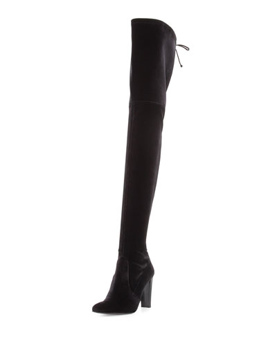Stuart Weitzman Alllegs Ultrastretch Velvet Over-the-Knee Boot