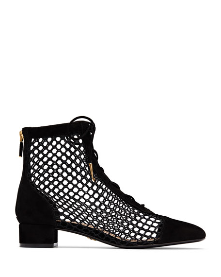 Dior Naughtily-D Suede & Mesh Ankle Bootie