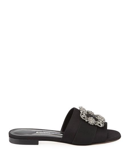 Martamod Crystal-Buckle Slide Sandal