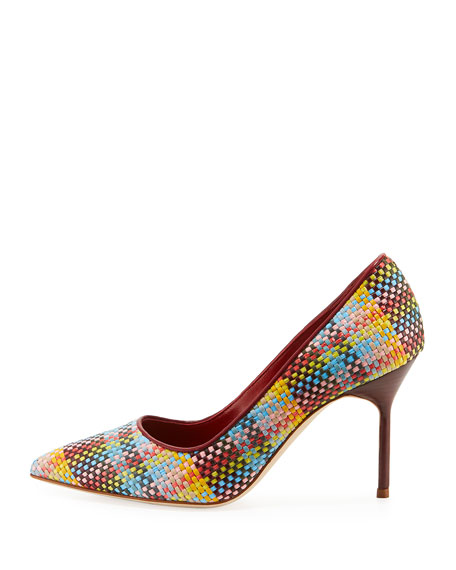 BB 90mm Multi-Woven Leather Pump