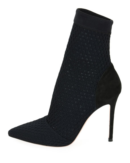 Pointed Knit 105mm Booties