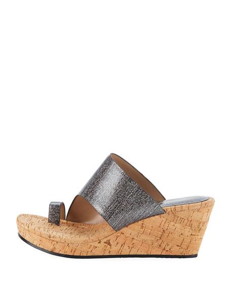 Giles Sparkle Wedge Sandal