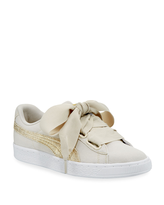 3f67966aac1 Puma Basket Heart Canvas Sneakers