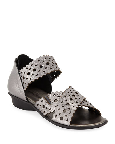 54bb27af83a Sesto Meucci Evie Perforated Comfort Sandal from Neiman Marcus - Styhunt