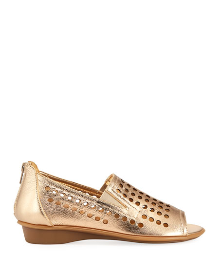 Ellen Perforated Comfort Slip-On Flat
