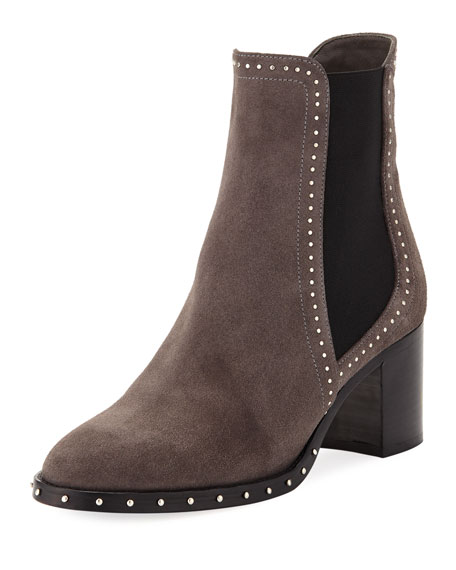 Jimmy Choo Merril Suede Studded Booties