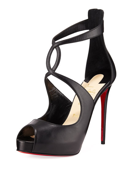 Christian Louboutin Rosie Kidskin Leather Platform Red Sole