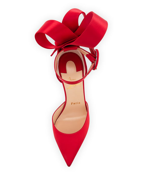 Raissa Satin Red Sole Sandals