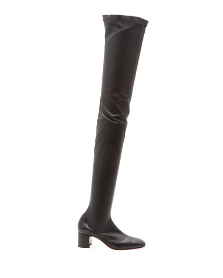 Sursamoto Napa Red Sole Over-The-Knee Boot