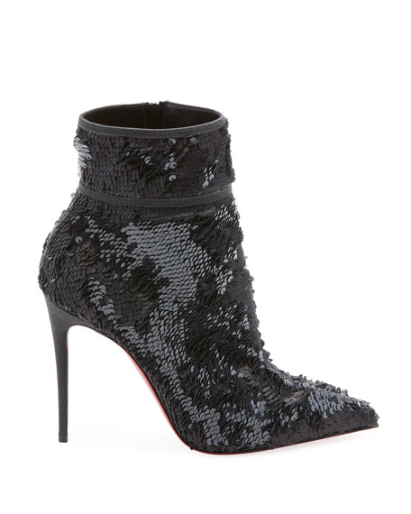 Moula Kate Sequin Red Sole Booties