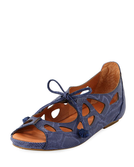 Gentle Souls Brynn Leather Lace-Up Sandals, Pink
