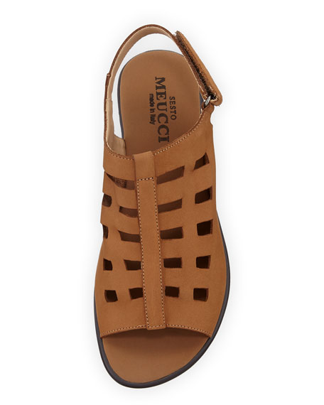 Ellia Laser-Cut Nubuck Comfort Sandal