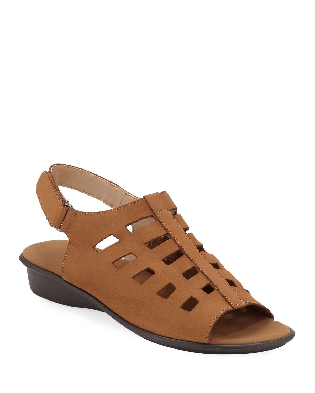 72fb7e4cb10fc Sesto MeucciEllia Laser-Cut Nubuck Comfort Sandal