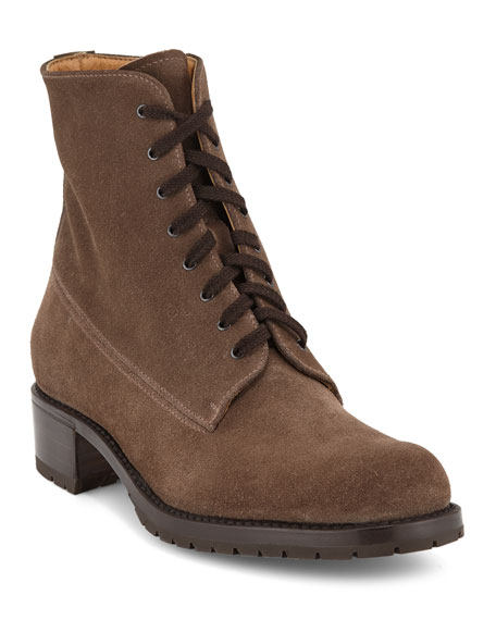 Gravati Suede Lace-Up Hiker Boots
