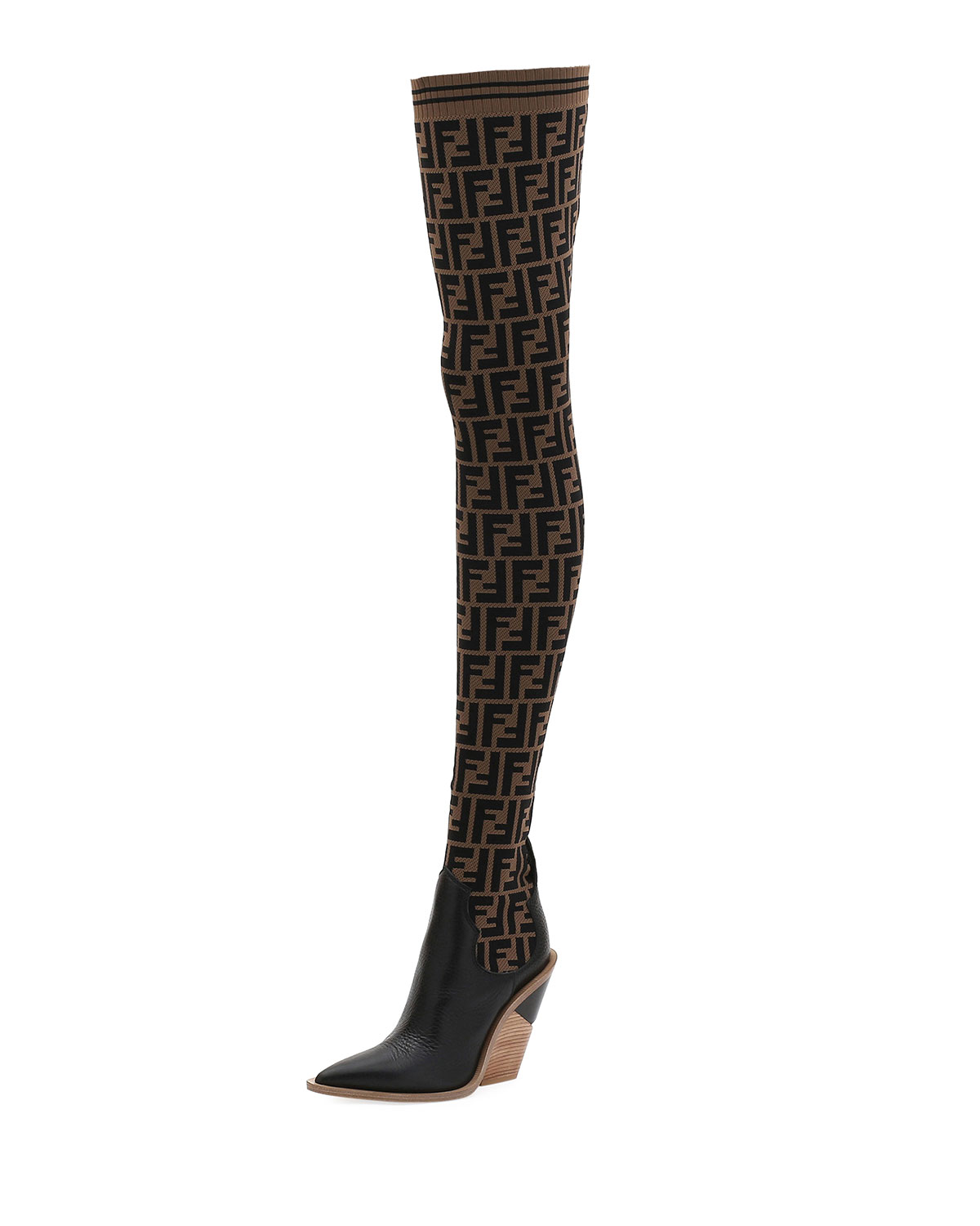 e9f99eab FF Knit Over-The-Knee Boot