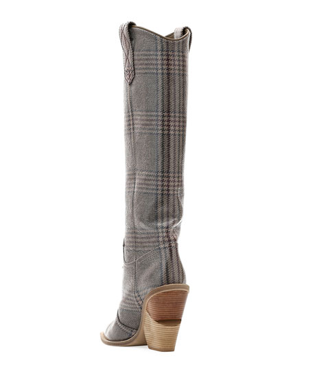 Tall Glen Plaid Western Boot