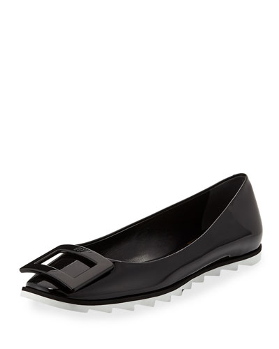 Viv Gommette Sneaker-Style Ballet Flats