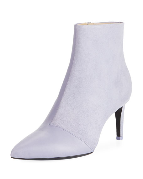 Beha Slim Leather/Suede Booties