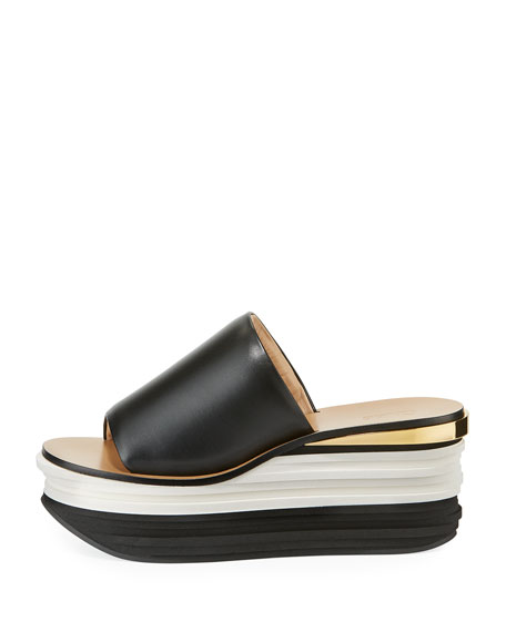 Strappy Leather Platform Sandal