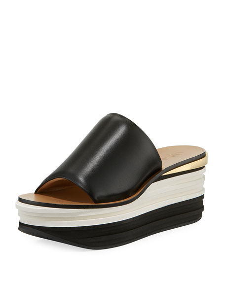 Chloe Strappy Leather Platform Sandal