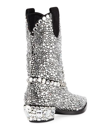 Dolce & Gabbana 30mm Crystal Western Boot